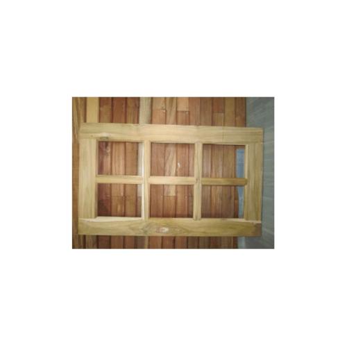 - หน้าต่างสเปญตรงไม้สัก 6 ช่อง ขนาด 60x100 ขอบ4นิ้ว