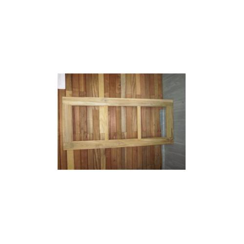 SJK หน้าต่างบันไดลิงไม้สัก ขนาด 60x140 ขอบ4นิ้ว