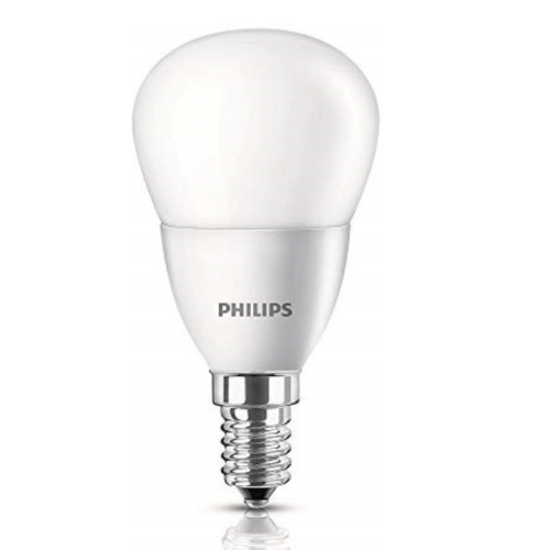 PHILIPS หลอดแอลอีดีบั๊บ 6.5-60 วัตต์  E14 3000K LEDBulb 6.5-60W E14 3000K สีขาว