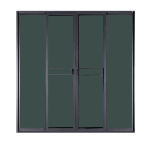 A-Plus  ประตูอลูมิเนียมบานเลื่อน FSSF 335x205ซม. กระจกสีชาพร้อมมุ้ง SAHARA