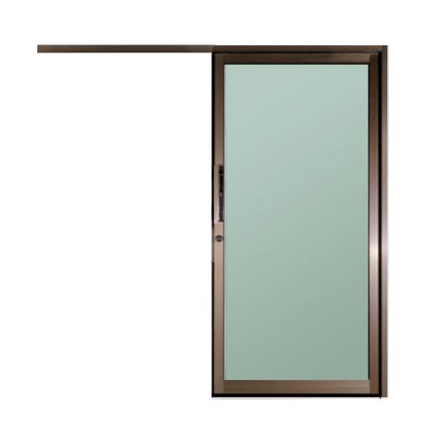 A-Plus  ประตูอะลูมิเนียมบานแขวน ขนาด100x205ซม. สีชา  LIKE