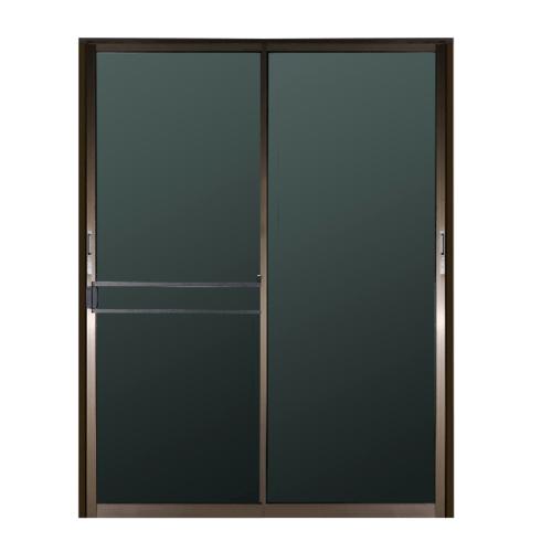 A-Plus  ประตูอะลูมิเนียมบานเลื่อน ขนาด 160x205ซม. สีชา พร้อมมุ้ง  SS (LIKE)