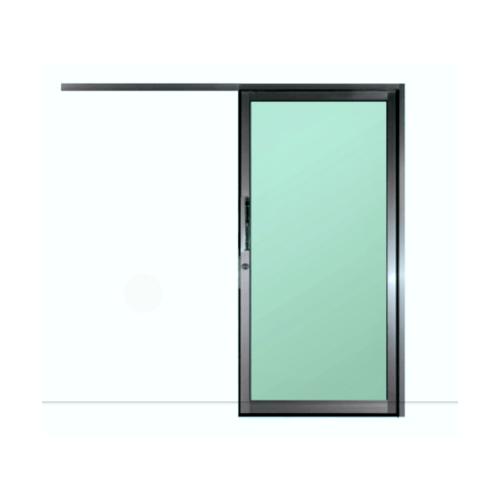 A-Plus  ประตูอลูมิเนียมบานแขวน ขนาด 100x205ซม.  SR-023 สีดำ