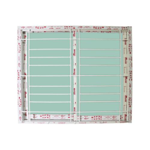 A-Plus หน้าต่างบานเลื่อนสลับ 1.20 m. x 1.10 m. สีขาว+มุ้ง พร้อมเหล็กดัดออริจินัล ASA-001