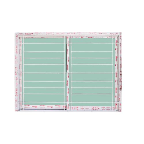 A-Plus หน้าต่างบานเลื่อนสลับ ขนาด 1.50 m. x 1.10 m.  พร้อมเหล็กดัดออริจินัล ASA-002 สีขาว