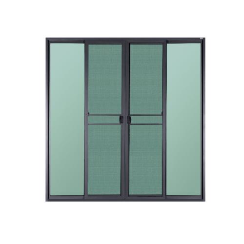 A-Plus ประตูบานเลื่อนเปิดกลาง ขนาด 200x205 cm.  SAHARA