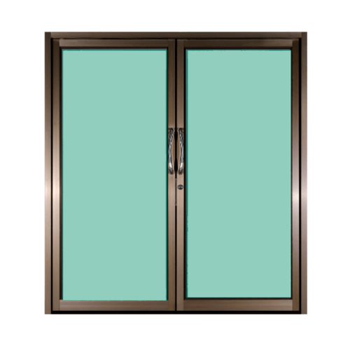 A PLUS ประตูบานสวิงคู่ 1.90 m. x 2.05 m. SR-015 sahara สีดำ