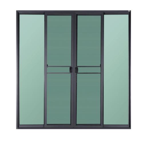 A PLUS ประตูบานเลื่อนเปิดกลาง 2.50 m. x 2.00 m. สีดำ + มุ้ง SAHARA SAHARA สีดำ