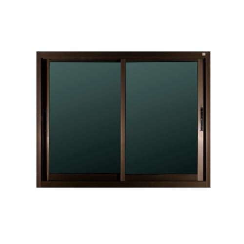 A-Plus หน้าต่างอลูมิเนียมบานเลื่อน SS ขนาด140 x 108 cm.  Like-001  สีชา ไม่มีมุ้ง