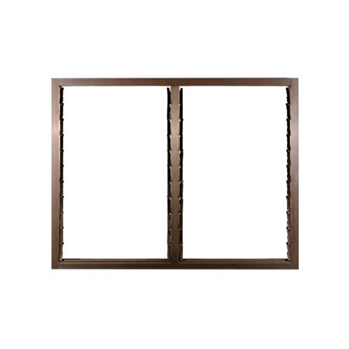 A-Plus หน้าต่างอลูมิเนียมบานเกล็ด ขนาด1.20 x 1.08 ม.  Like-013 สีชา ไม่มีมุ้ง