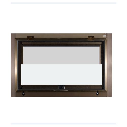 A-Plus หน้าต่างอะลูมิเนียมบานเกล็ดซ้อน 70x45ซม. (มีมุ้ง) สีชา