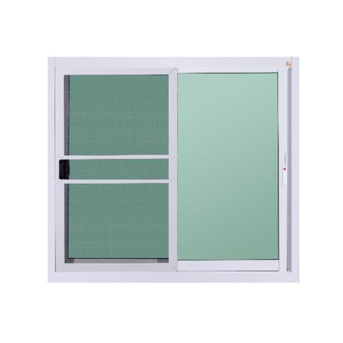 A-Plus หน้าต่างอะลูมิเนียมบานเลื่อน 100x110ซม. (มีมุ้ง)  สีขาว