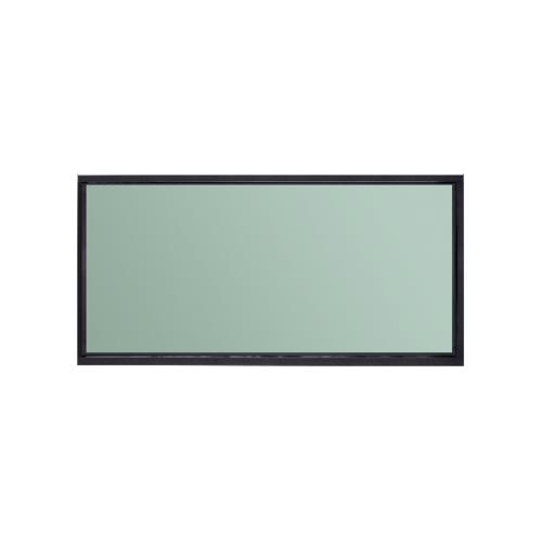 A-Plus ช่องแสงอะลูมิเนียมบานตาย ซาฮาร่า 160ซม.x40ซม.  SAHARA สีดำ