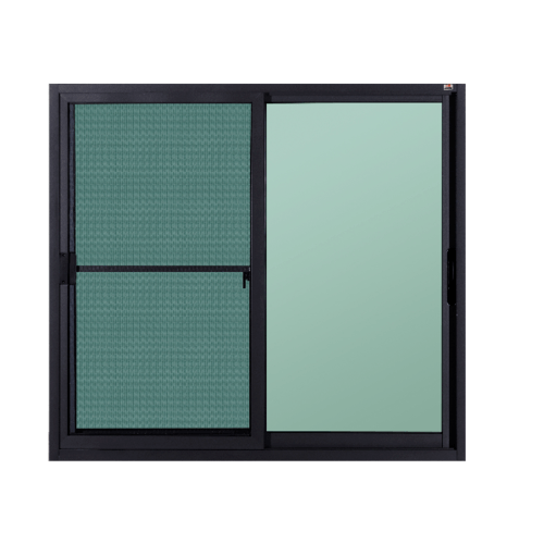 A-Plus หน้าต่างอะลูมิเนียมบานเลื่อนสลับ  120x150ซม. (2 บาน) SAHARA