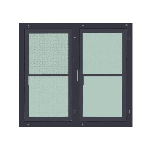 A-Plus หน้าต่างอะลูมิเนียมบานเปิดคู่ (SR) ขนาด 120x100ซม. SAHARA