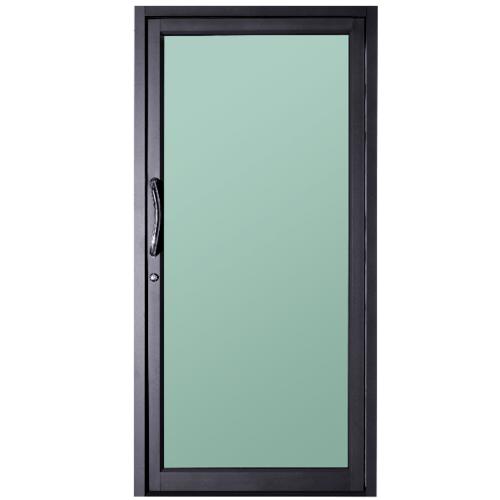 A-Plus  ประตูอะลูมิเนียมบานสวิงเดี่ยว  100x250ซม. สีดำด้าน DB01
