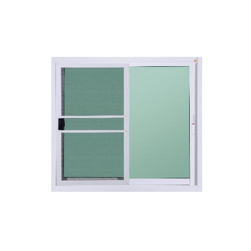 A-Plus  หน้าต่างอะลูมิเนียมบานเลื่อน ขนาด  100x100ซม.  พร้อมมุ้ง SS สีขาว