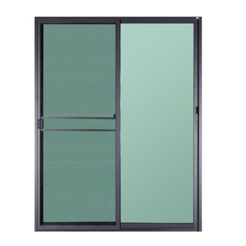A-Plus ประตูบานเลื่อนสลับ  ขนาด 2.00 m. x 2.05 m.  มีมุ้ง  สีดำด้าน