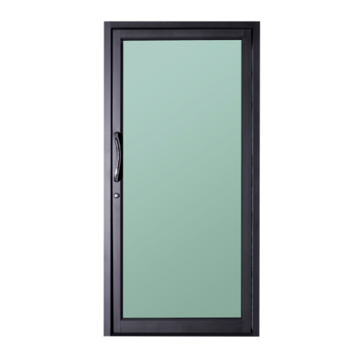 A-Plus ประตูบานสวิงเดี่ยวเปิดกลาง  0.90 m. x 2.05 m.  SAHARA สีดำ