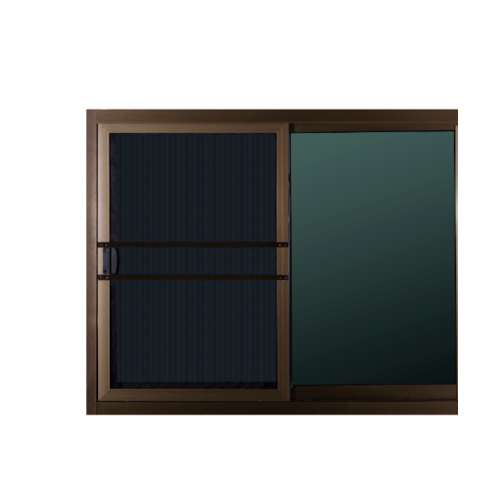 A-Plus หน้าต่างบานเลื่อนอลูมิเนียม สีชา ขนาด 1.45x 1.34ม. (มีมุ้ง) A-Plus like