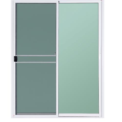 A-Plus ประตูอะลูมิเนียมบานเลื่อน SS ขนาด  160x180ซม. สีขาว พร้อมมุ้ง