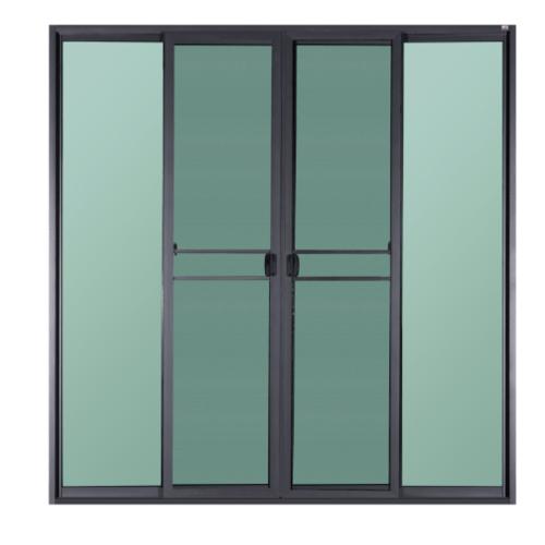 A-Plus ประตูอะลูมิเนียมบานเลื่อน FSSF 230x205ซม. สีซาฮาร่า พร้อมมุ้ง SAHARA เทาเข้ม