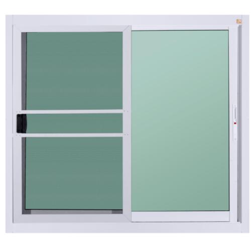 A-Plus หน้าต่างอะลูมิเนียมบานเลื่อน SS ขนาด 150x110ซม. พร้อมมุ้ง   A-Plus like  สีขาว