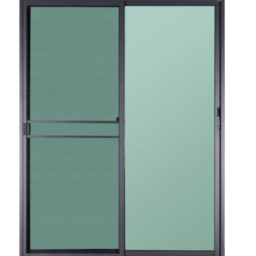 A-Plus ประตูอะลูมิเนียมบานเลื่อน SS ขนาด 180x225ซม. สีซาฮาร่า พร้อมมุ้ง SAHARA เทาเข้ม
