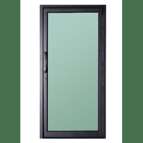 A-Plus ประตูอะลูมิเนียมบานสวิงเดี่ยว 80x205 ซม. SAHARA เทาเข้ม