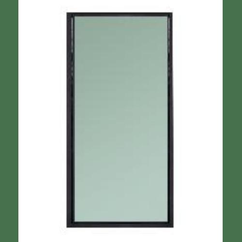 A-Plus หน้าต่างอะลูมิเนียมช่องแสงติดตาย ขนาด  40x160ซม. สีซาฮาร่า SAHARA เทาเข้ม