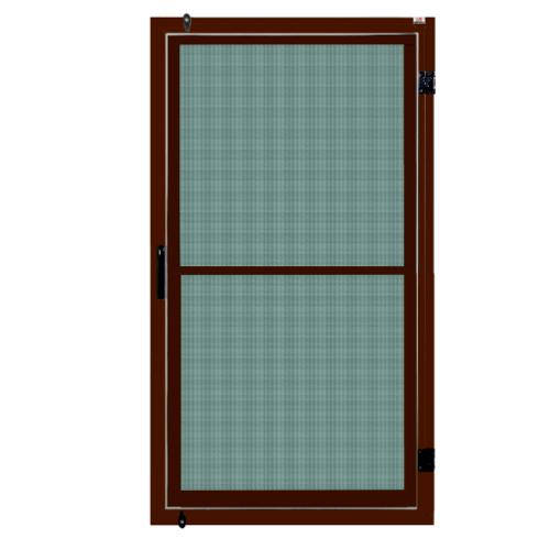A-Plus หน้าต่างอะลูมิเนียม บานเปิดเดี่ยว 60x100 ซม. สีชา กระจกสีเขียวใส พร้อมมุ้ง ชา