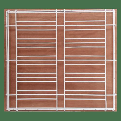 GUNNER  ลินเนียร์ เหล็กดัดหน้าต่างลายคลาสสิค  (ติดครอบ) 120x10ซม.  WCO/1 สีขาว