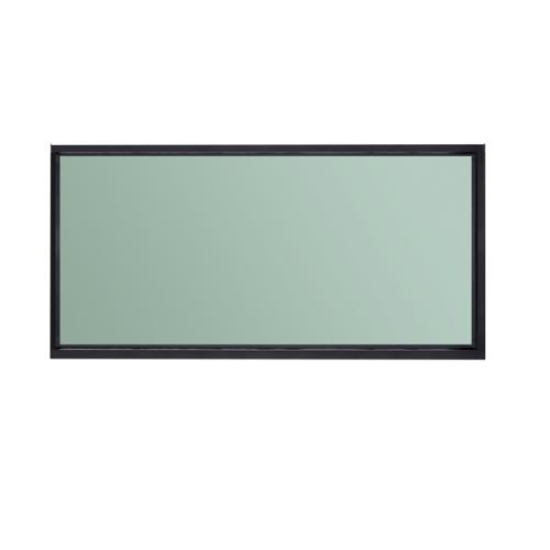 A-Plus หน้าต่างบานตาย  2.40 m. x 1.10 m. SAHARA สีดำ