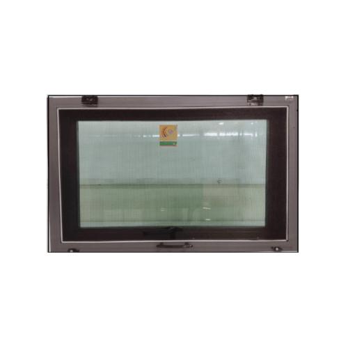 A-Plus หน้าต่างบานกระทุ้งอลูมิเนียม 0.60 m.  x 0.50 m. (มีมุ้ง)   SAHARA สีดำ