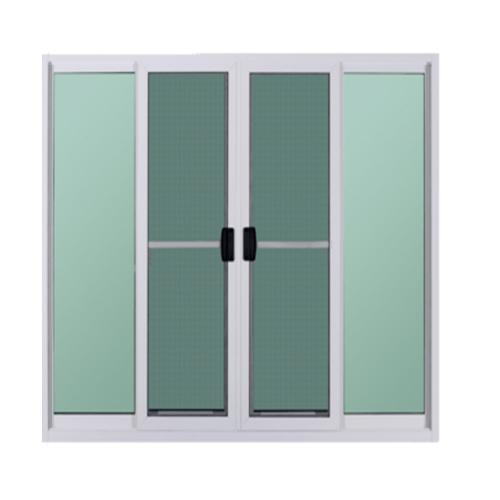 A-Plus ประตูบานเลื่อนเปิดกลาง  2.80  x 2.50 ม. มุ้ง  Platinum สีขาว