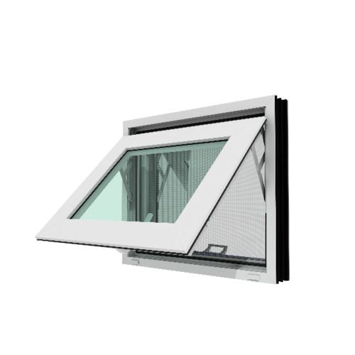 WINDSOR หน้าต่างบานกระทุ้ง วินด์เซอร์ (รุ่นเรดดี้) ขนาด 60x50 ซม. สีขาว