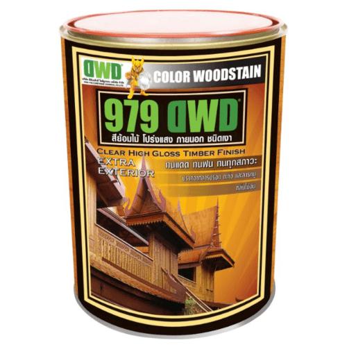 DWD สีย้อมไม้ ชนิดเงา  (3.785ลิตร) 979DWD  101EX สีไม้สัก