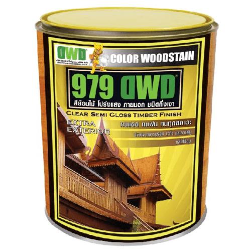 DWD สีย้อมไม้ ชนิดกึ่งเงา (3.785ลิตร) 979DWD 503EX สีไม้สักทองอ่อน