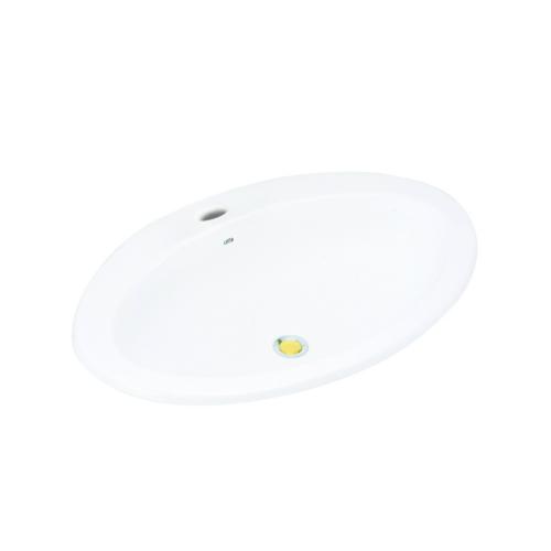 Cotto อ่างล้างหน้าฝังบนเคาน์เตอร์ เอลลิปส์  C019 สีขาว