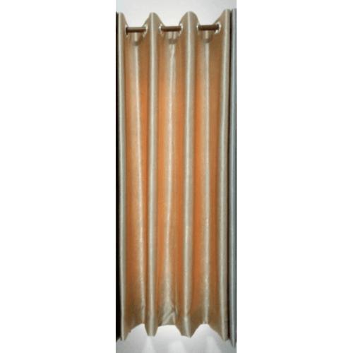 Davinci ผ้าม่านประตู ขนาด (150 x 250 ซม.) Y6071-7  สีครีมเข้ม