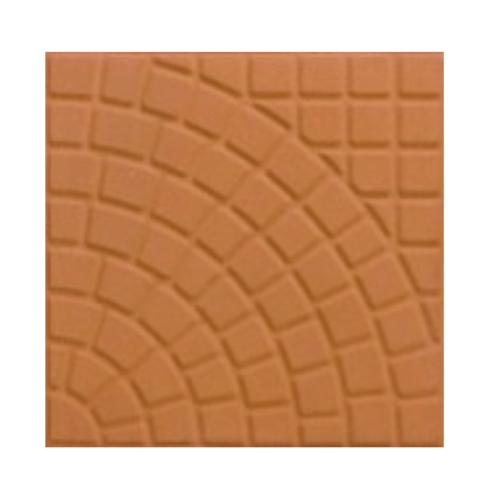 Dura one ซีเมนต์ตกแต่งพื้น  ขนาด 40x40x3.5 ลายพัดโบก  สีส้ม
