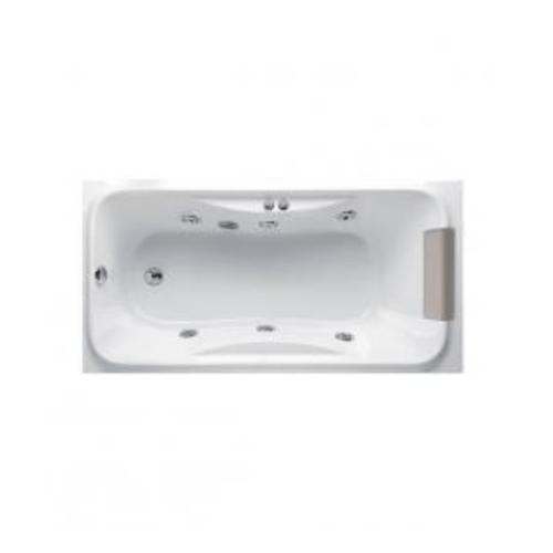 MOGEN จีเนียล อ่างอาบน้ำวน พร้อมหมอนหนุน-สะดืออ่างอาบน้ำ (แบบฝัง) MB08P สีขาว