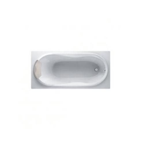 MOGEN อ่างอาบน้ำธรรมดา พร้อมหมอนหนุน-สะดืออ่างอาบน้ำ  (แบบฝัง)  MB20  บีไนน์  สีขาว