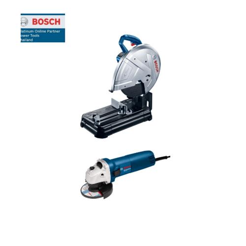 BOSCH แท่นตัด 14นิ้ว +เครื่องเจียร์    GCO220+GWS060  สีน้ำเงิน