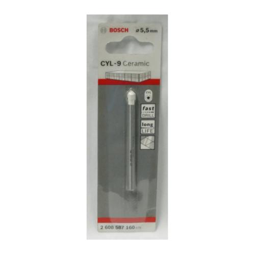 BOSCH ดอกเจาะกระเบื้อง  Tile drill bit 5.5 x 70 mm (1) เทา-ขาว