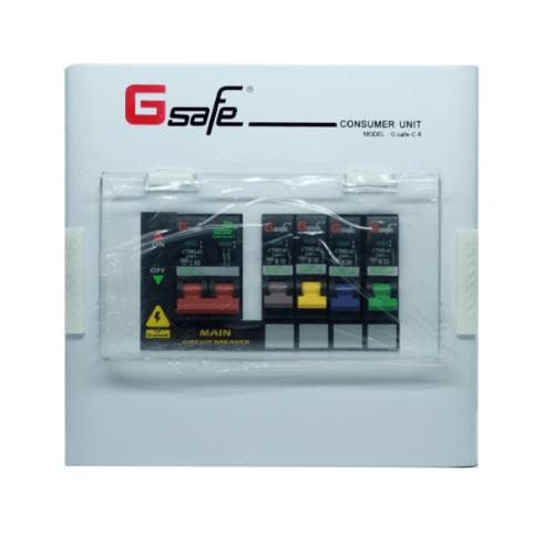 G-Safe ตู้คอนซูเมอร์สำเร็จ  C4/4ช่อง 63A  สีขาว