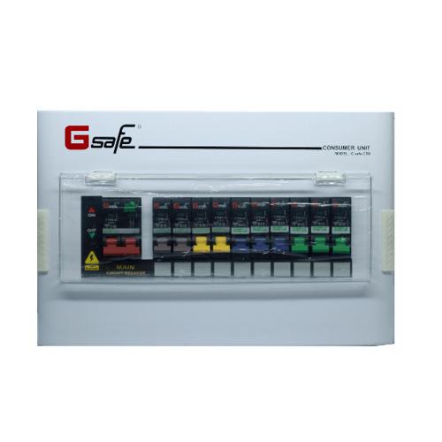 Gsafe ตู้คอนซูเมอร์สำเร็จ G safe-C10/10ช่อง 63A C10 ขาว