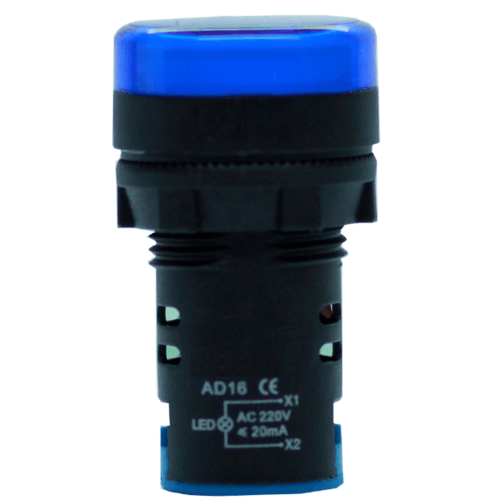CT ELECTRIC ไพลอตแลมป์(LED) AD16 สีน้ำเงิน AD16 LED Blue color