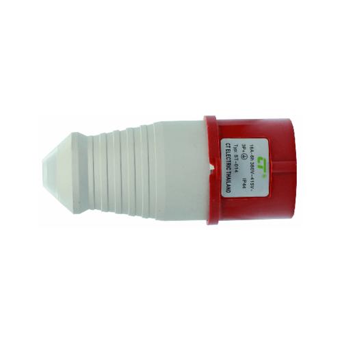 CT ELECTRIC พาวเวอร์ปลั๊ก(ตัวผู้) 3P-E(014)16A 380V ขาว-แดง
