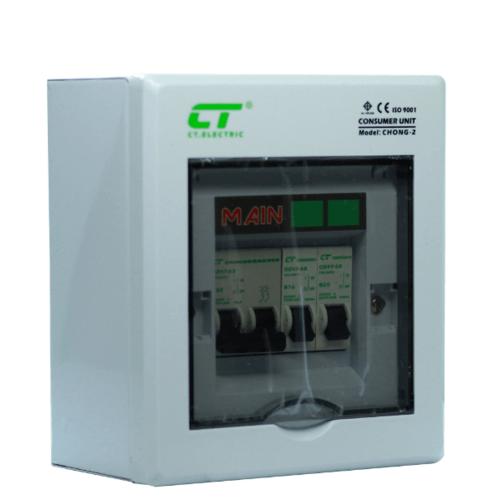 CT ตู้คอนซูเมอร์สำเร็จ CHONG-C2/2ช่อง 32A สีขาว